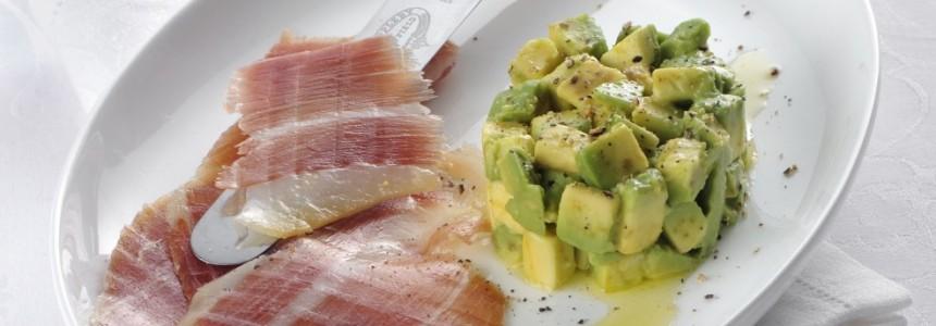Jamon iberico with avocado tartare