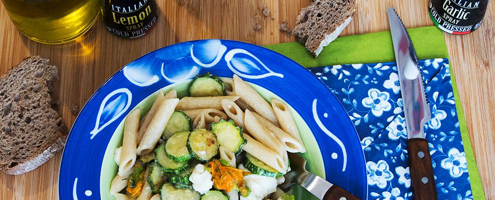 ricetta-pasta-zucchini- flowers-recipe-mozzarella-anchovies